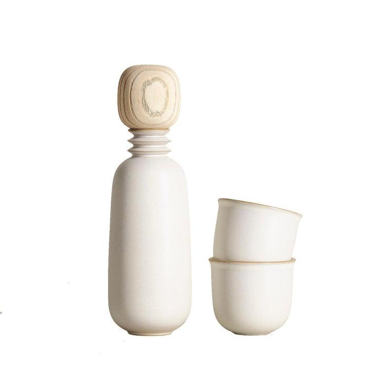 Kaolin, Carafe Teacup Set, Slip Cast Ceramic, N/O Service Collection