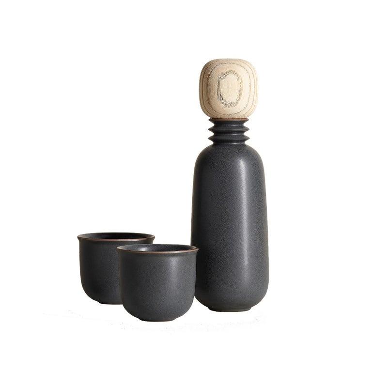 Kombu, Carafe Teacup Set, Slip Cast Ceramic, N/O Service Collection