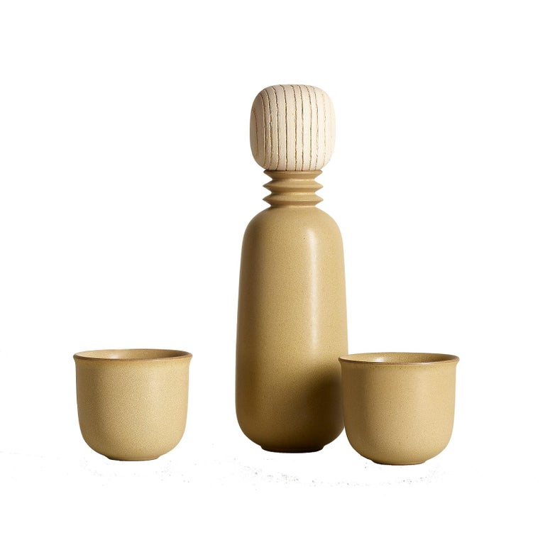 Ochre, Carafe Teacup Set, Slip Cast Ceramic, N/O Service Collection