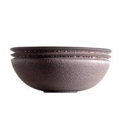 Moss Pink, Vessel N, 9 inch Bowl, Slip Cast Ceramic, N/O Vessels Collection