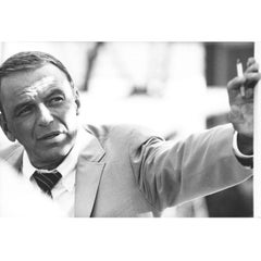 Terry O' Neill Black and White Photograph of Frank Sinatra in Miami, 1968