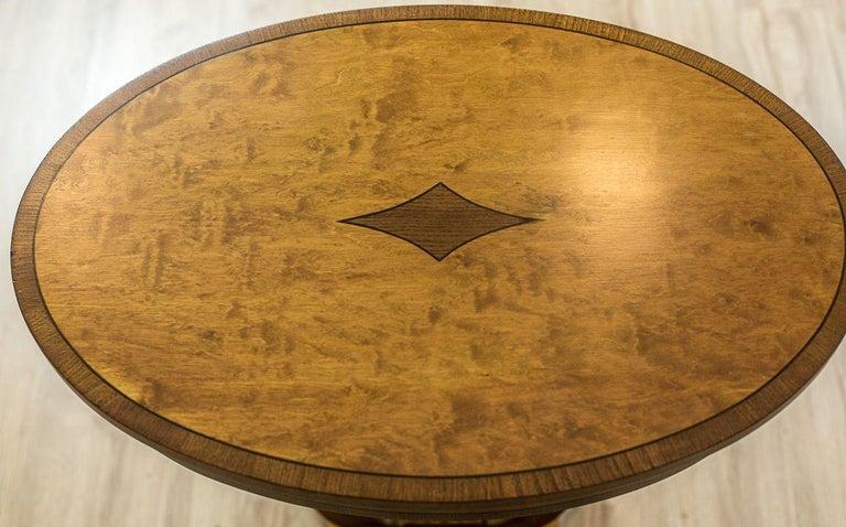 Biedermeier Sewing Table Veneered with Birch For Sale 6