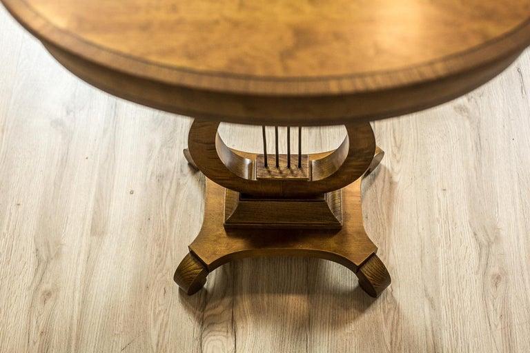 Biedermeier Sewing Table Veneered with Birch For Sale 7