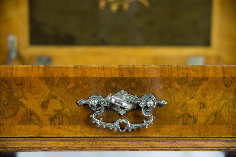 Eclectic Walnut Sewing Table, circa 1900 For Sale 2