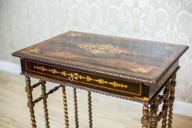 French Intarsiated Table from the 19th Century For Sale 6