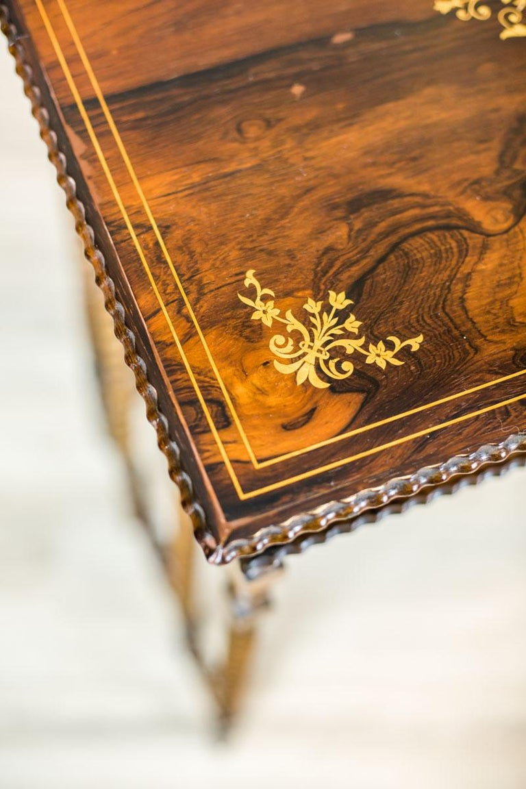 French Intarsiated Table from the 19th Century For Sale 7
