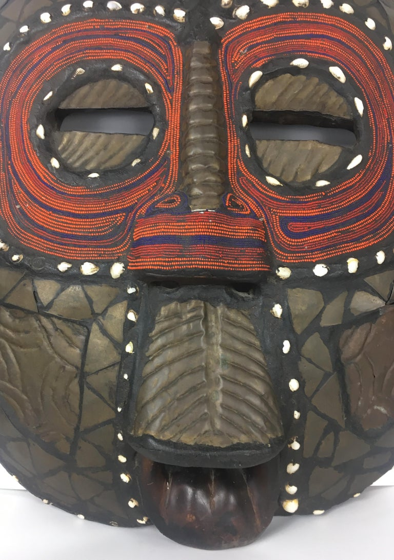 Kenyan Very Large Mid-20th Century African Tribal Mask For Sale