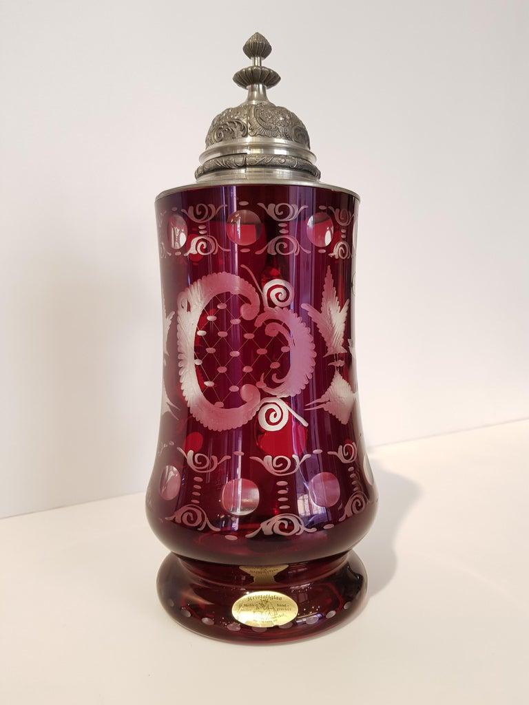 Hand-Crafted Art Deco Bavarian Cristal Mug For Sale