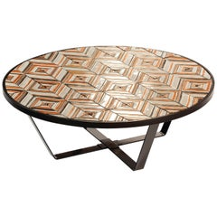 Round Centre Table Caldas for Outdoors