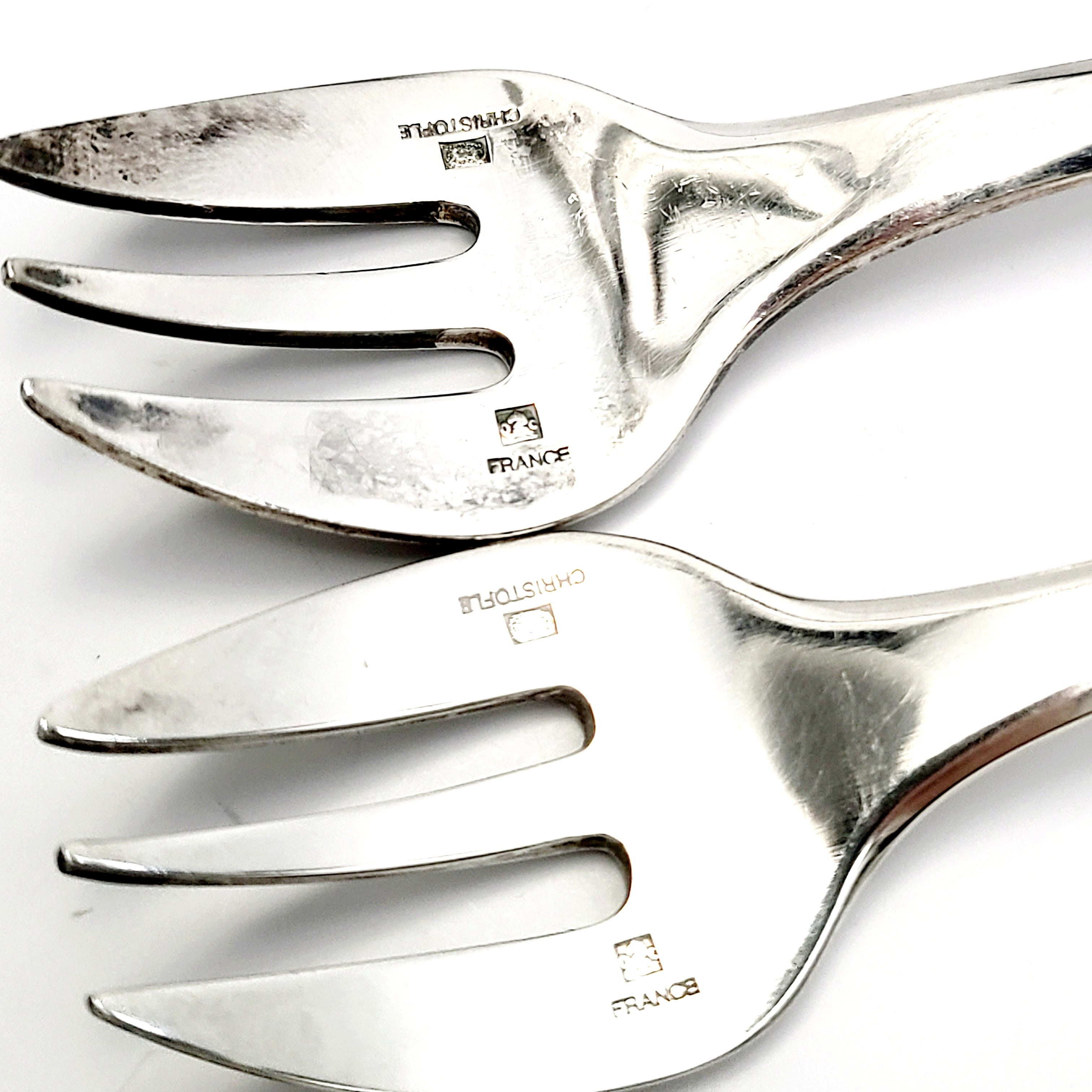 Cluny by Christofle Silverplate Pickle Fork 2-Tine 6 18 Serving