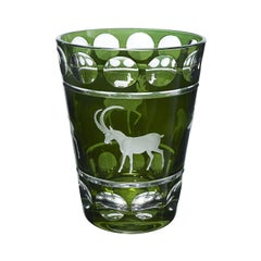 Black Forest Vase Crystal with Hunting Decor Green Sofina Boutique Kitzbuehel