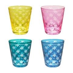 Modern Set of Four Goblets Crystal Sofina Boutique Kitzbühel