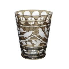 Modern Glass Vase with Birds Decor Sofina Boutique Kitzbühel