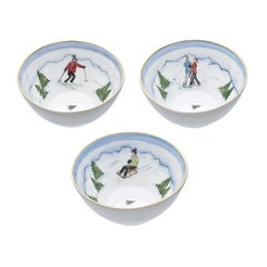 Set of Three Porcelain Bowls Winter Decor Sofina Boutique Kitzbuehel