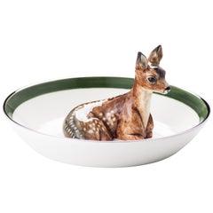 Porcelain Bowl with Bambi Figure Sofina Boutique Kitzbuehel