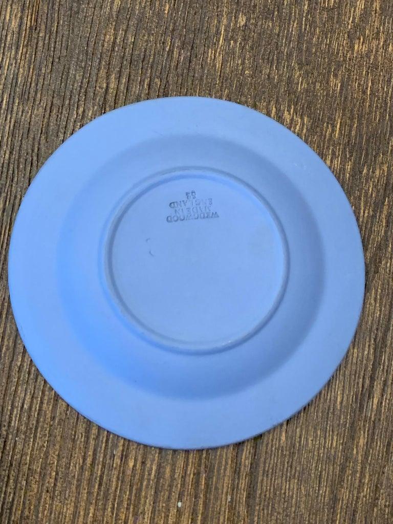 Hand-Crafted Mid-century Wedgwood Jasperware Cream on Blue For Sale