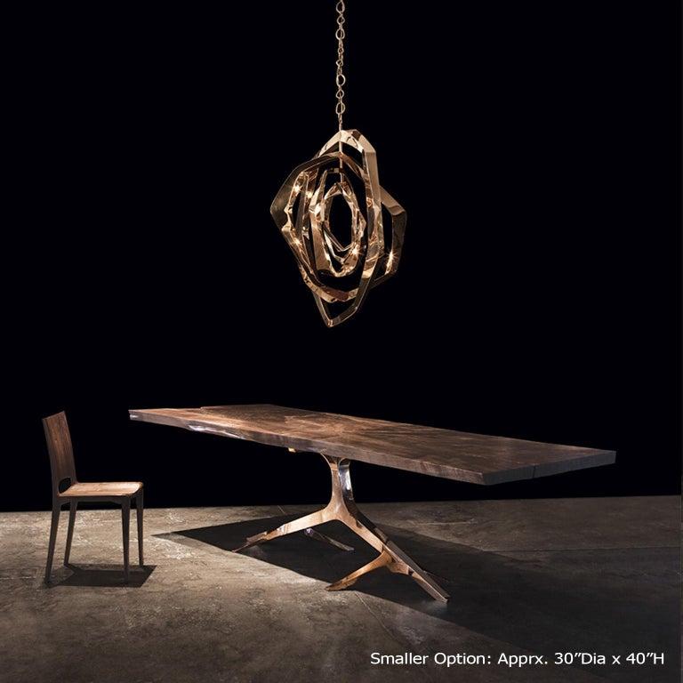 Modern La Cage Chandelier 'Bronze' by Hudson For Sale