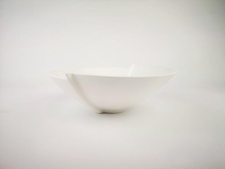Stoneware bowl model Surrea designed by Wilhelm Ka°ge.  Produced by Gustavsberg in Sweden.  Not signed in bottom, signes of use under bowl.