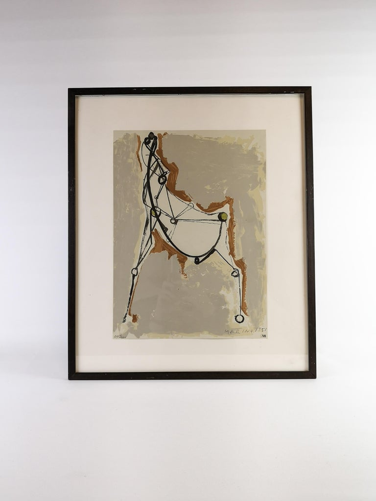 Marino Marini Lithograph In Excellent Condition For Sale In Langserud, SE