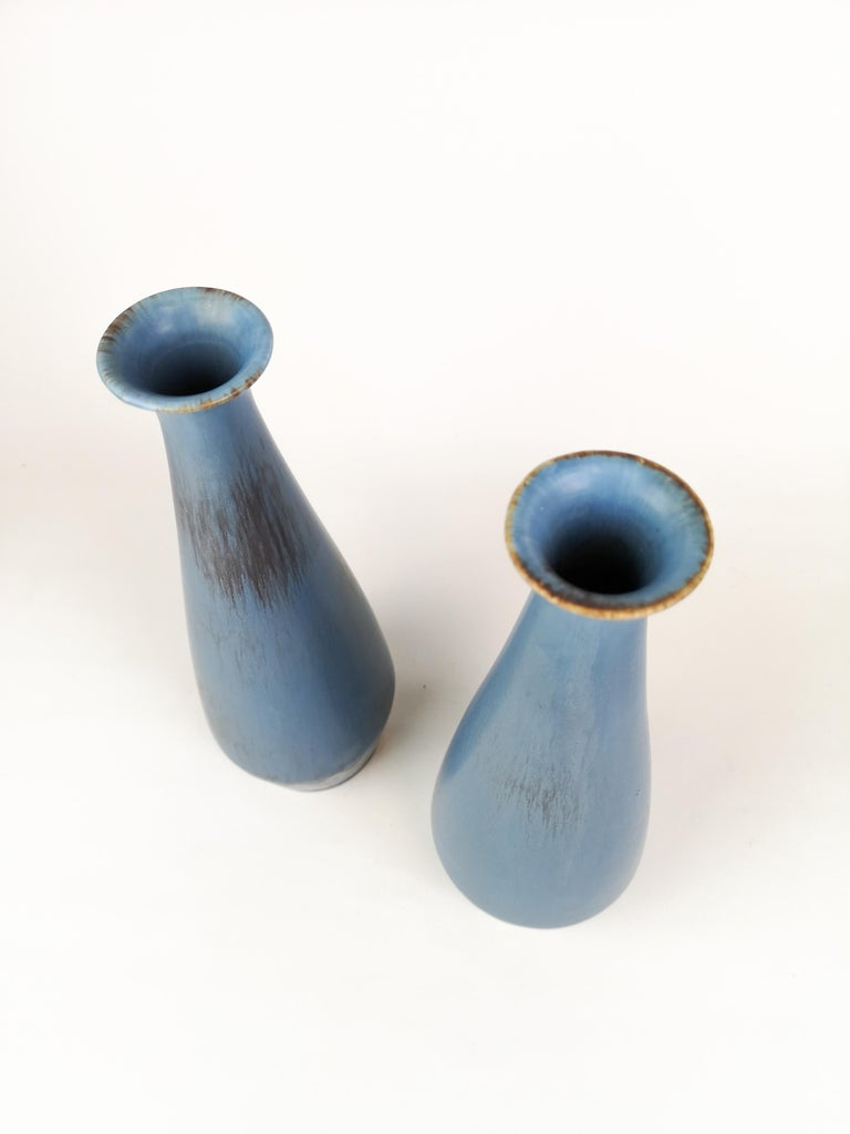 Pair of Gunnar Nylund Ceramic Vases by Rörstrand in Sweden For Sale 2