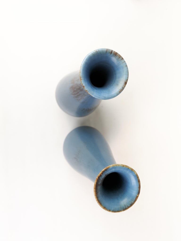 Pair of Gunnar Nylund Ceramic Vases by Rörstrand in Sweden For Sale 3