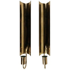 Pair of Brass Wall Candlesticks, Reflex by Pierre Forsell for Skultuna