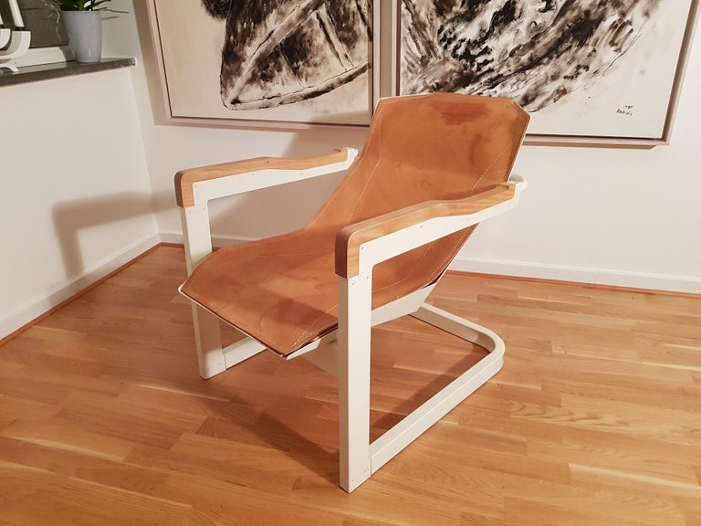 Scandinavian Modern Mats Theselius Atlantic Hellride Easy Chair 1 of 3 Produced by Källemo Sweden For Sale