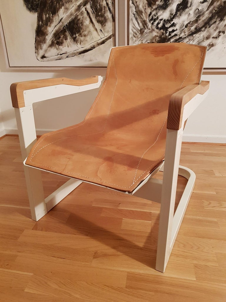 Mats Theselius Atlantic Hellride Easy Chair 1 of 3 Produced by Källemo Sweden In Good Condition For Sale In Limhamn, SE