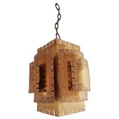 Svend Aage Holm Sorensen Brutalist Ceiling Lamp 1960s for Holm Sorensen & Co.