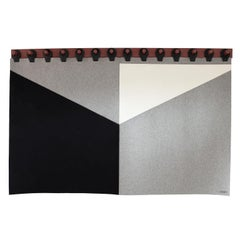 King Range Wall Tapestry in Shades of Grey by Moses Nadel