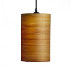 Centa Cypress Wood Cylindrical Mini Pendant