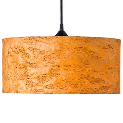 Cannea Karelian Burl Wood Drum Pendant Chandelier