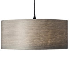 Cannea Gray Tay Wood Drum Pendant Chandelier