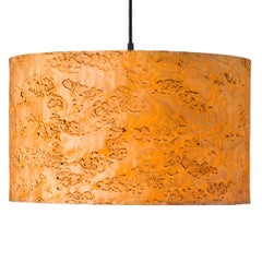 ARA Custom Karelian Burl Wood Drum Chandelier Pendant