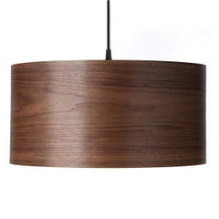 Cannea Walnut Wood Drum Pendant Chandelier