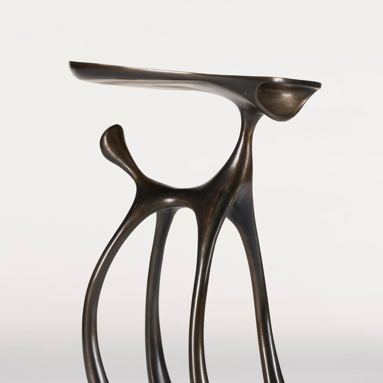 Creature Side Table / Occasional Table, Cast Aluminum Patina, Jordan Mozer, 2008 In Excellent Condition For Sale In Chicago, IL