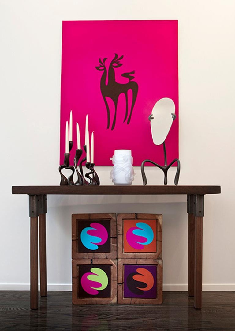 Blown Glass Rasta Vase / Rasta Bowl:  Hand Blown Etched Glass by Jordan Mozer, 2008 For Sale