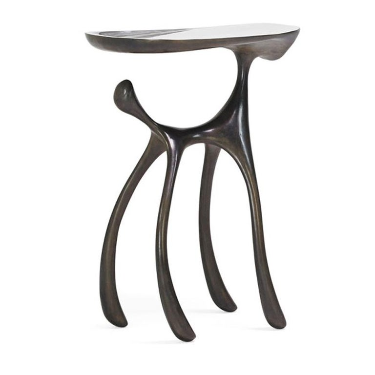 Creature Side Table / Occasional Table, Cast Aluminum Patina, Jordan Mozer, 2008 For Sale 1