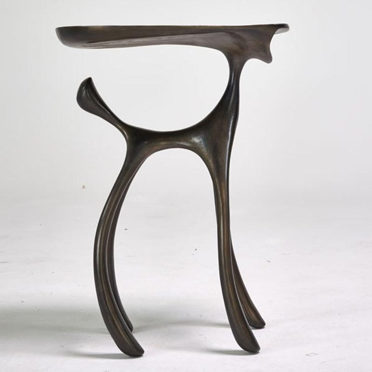 Organic Modern Creature Side Table / Occasional Table, Cast Aluminum Patina, Jordan Mozer, 2008 For Sale