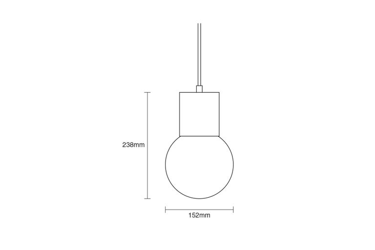 Powder-Coated Perf Pendant Light Small-Black Perforated Tube, Glass Round Orb Shade For Sale