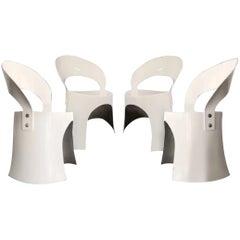 Nanna Ditzel Mid-Century Danish Modern Space Age White Fiberglass Chair, 1969