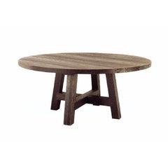 Ralph Lauren Left Bank Round Sandblasted Oak Parisian Dining Table, Rustic, 2013