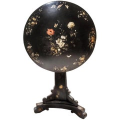 19th Century Jennens & Bettridge Victorian Tilt-Top Lacquered Papier Mache Table