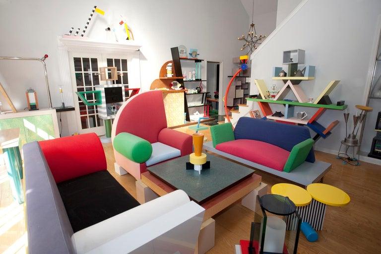 20th Century Post-Modern Memphis Milano Marco Zanini Dublin Sofa, 1981, Italy Ettore Sottsass For Sale