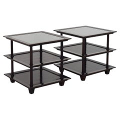 Barbara Berry for Baker Furniture Company, Three-Tiered Mahogany Side End Tables