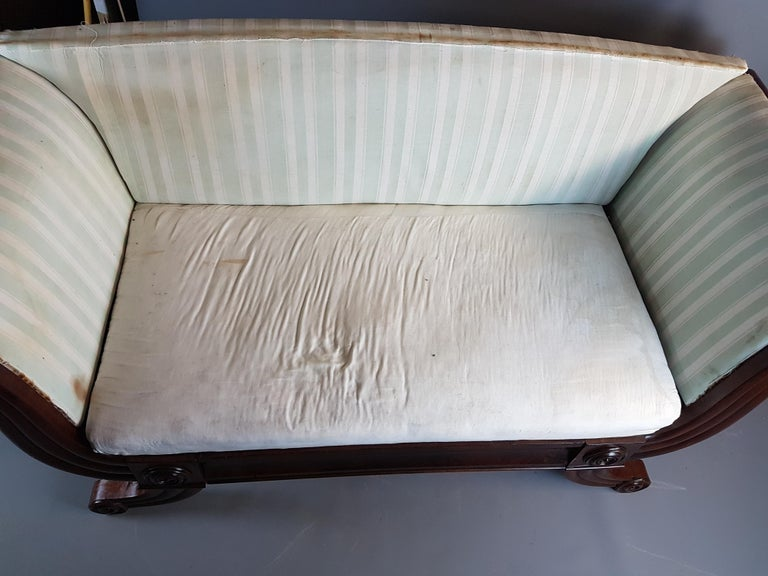 19th Century Swedish Campaign Type Settee from the Estate of Sir Bernard Ashley For Sale 2