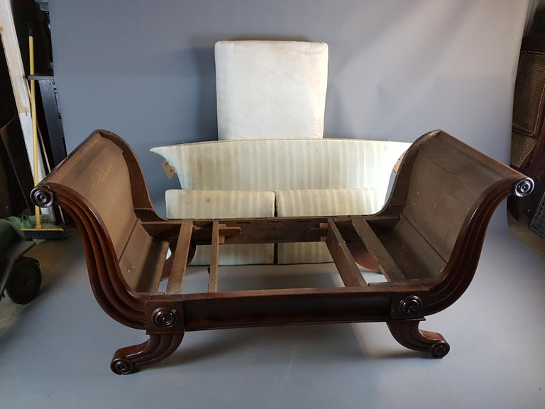 19th Century Swedish Campaign Type Settee from the Estate of Sir Bernard Ashley For Sale 3