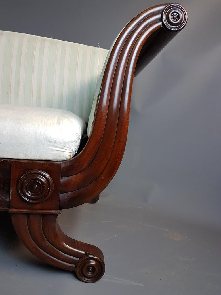 Upholstery 19th Century Swedish Campaign Type Settee from the Estate of Sir Bernard Ashley For Sale