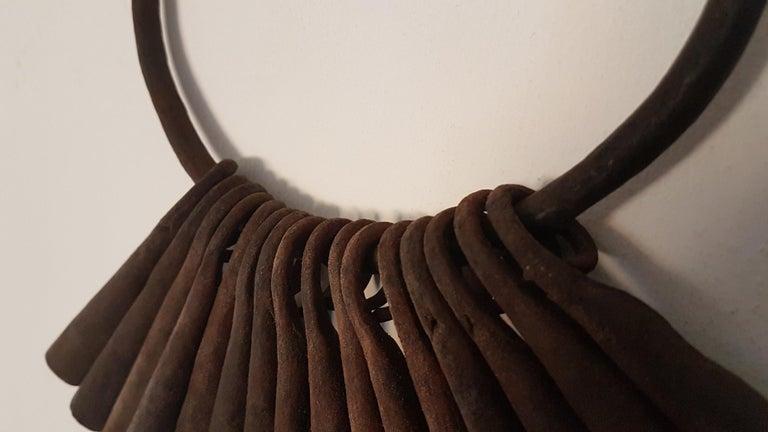 Nigerian 16 Yaruba Tribal Currency Gongs on Hoop, Ex Seward Kennedy Collection For Sale