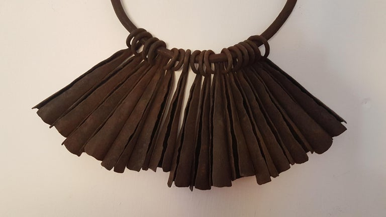 16 Yaruba Tribal Currency Gongs on Hoop, Ex Seward Kennedy Collection In Good Condition For Sale In Bodicote, Oxfordshire
